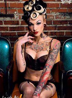 Эротические фото девушек с татуировками - фото #