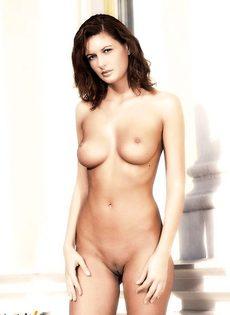 Милая восхитительная красавица обнажила тело - фото #