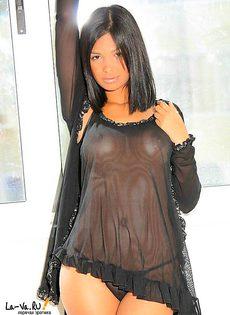 Лидия - очаровательная брюнетка - фото #