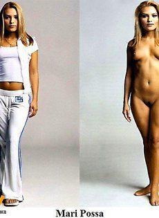 Порноактрисы в одежде и без - фото #