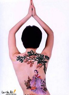 Боди-арт и обнаженные китаянки - фото #