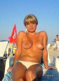 Девушки на пляже, Ню - фото #