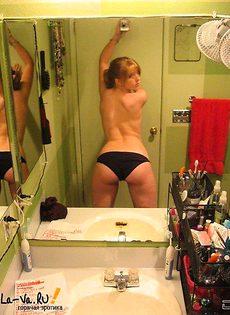 Девушка любит фоткаться перед зеркалом(9 фото) - фото #