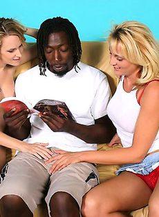 негр трахает беременную женщину и её подружку - фото #