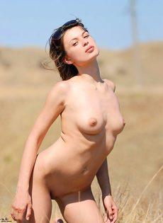 Лиза в поле - фото #