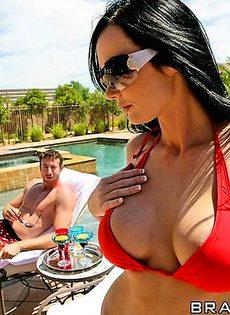 Мелисса Лаурен играет с членом друга своего мужа - фото #