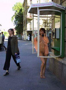 Олеся на улице - фото #