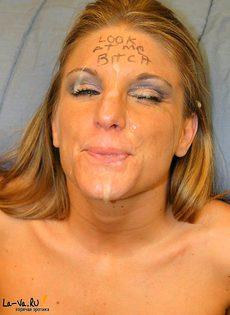 Девушке нагло обкончали лицо - фото #