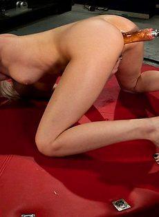 Блондинка и её механический самотык - фото #