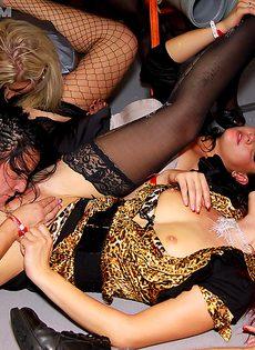 Классный групповой секс с развратницами на вечеринке - фото #