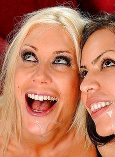 Чувак хочет удовлетворить сразу двух шикарных девушек - фото #
