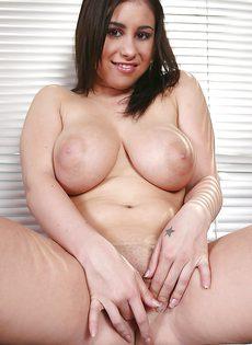 Пышногрудая брюнетка Whitney Stevens показала бритую щелку - фото #