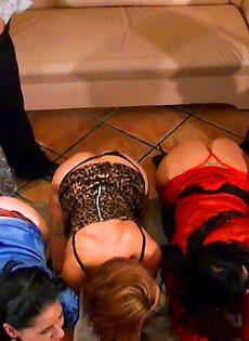 Любительницы фетиша устроили развратные развлечения - фото #