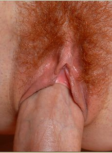 Шпарит рыжеволосую шлюшку в волосатую киску - фото #
