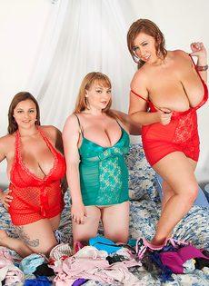 BBW Микки Беллс и ее жирные подруги - фото #1
