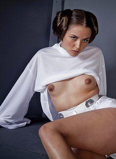 Косплей от развратной девушки с очень маленькими сиськами - фото #13