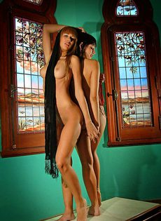 Блондинка и брюнетка - 2 - фото #
