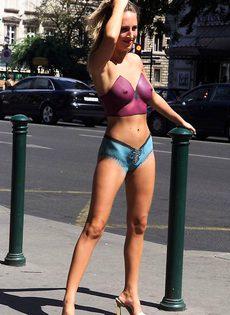 Боди-арт на улице - фото #