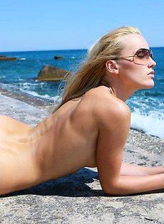 Лайма на пляже - фото #