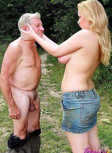 Деду очень повезло встретить такую девушку - фото #