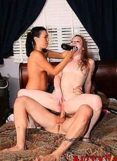 Рыжая сука попросила, что бы её трахнули - фото #