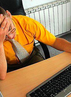 Офисная потаскуха для снятия усталости - фото #