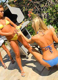 Лесбиянки на пикнике - фото #