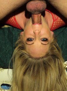 Гламурная блондинка любит трахаться с любовником - фото #
