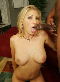 Секс негра с шикарной блондинкой - фото #