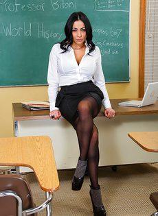 Сногсшибательная Audrey Bitoni в роли преподавательницы - фото #