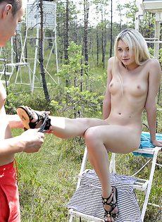 Занялись крутым половым актом на свежем воздухе - фото #