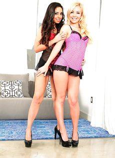 Сногсшибательные девушки лижут друг дружке промежности - фото #