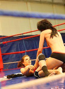 На ринге очаровательные девушки занялись сексом - фото #