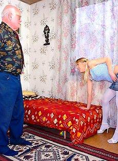 Внучка трахнула своего деда