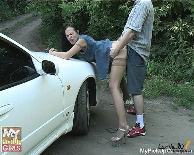 проститутку на трахнул трассе вдвоем