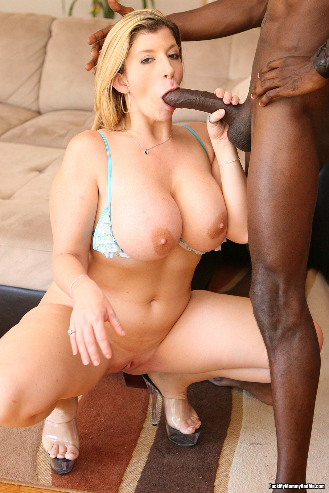 Big boob mom interracial